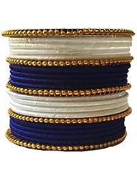 Beulah Fancy Silk Thread Bangle Set For Women (Size: 2.4, Beulah Fancy Silk Thread 1--2.4) - B0784XK8F2