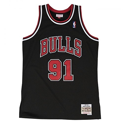 Mitchell & Ness Dennis Rodman #91 Chicago Bulls 1997-98 Swingman NBA Trikot SCHWARZ, XL