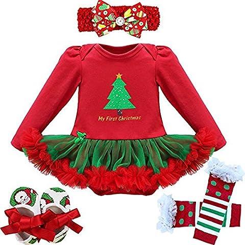 ZILucky Bambino Ragazze Natale Costume Tutu Vestito