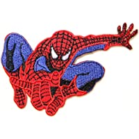 """Spiderman SuperHero Marvel Comics Movie Logo Kid Polo T shirt Patch Sew Iron on Embroidered Badge Costume / Size 3.75""""Width x 2.5""""Height"""