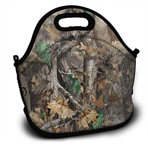ALDDL Realtree Camo Wallpapers Boys Girls Lunchbox Food Container Gourmet Tote Cooler Warm Pouch for School Work Office -