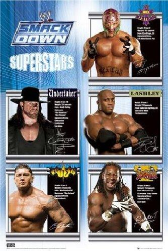 """1art1 36920, Poster """"WWE - Smackdown Superstars"""", 91 x 61 cm (lingua inglese)"""