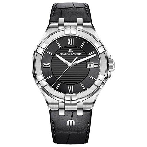 Maurice Lacroix Herren Analog Quarz Uhr mit Leder Armband AI1008-SS001-330-1