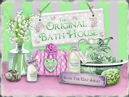 the-original-bath-house-soak-the-day-away-the-spa-pamper-relax-towels-sponge-flowers-candles-soap-id