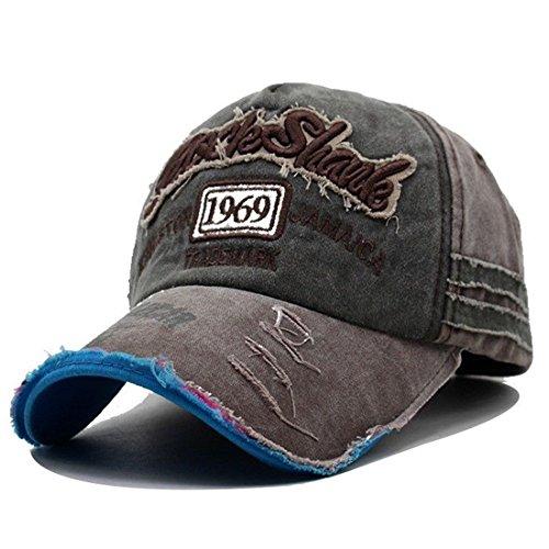 Kuyou Vintage Casquettes de Baseball Unisexe Chapeau Sport Trucker Hat Vert armée