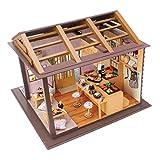 P Prettyia 1:24 DIY Spielzeug Geschenk Puppenhaus Miniatur mit Möbeln Minipuppen Häuser Dollhouse Puppenstube Puppenmöbel - Sushi Restaurant