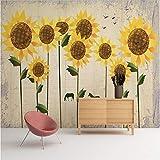 Benutzerdefinierte 3D-Wandverkleidung Sunflower Printing Fotos Für Wohnzimmer Küche Studie Schlafzimmer Restaurant Verdicken-140cm(W) x70.5cm(H)