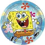 Platos Papel 18cm Bob Esponja playa, decoración fiesta cumpleaños Nickelodeon * 20300