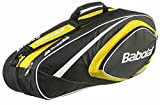 BABOLAT X6 Club Line Sac pour raquettes de tennis Jaune/noir Jaune 74 x 24 x 33 cm, 40 Liter
