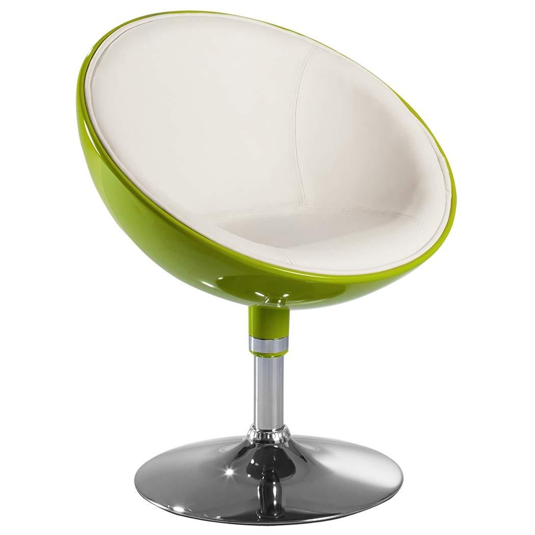 Lounge Sessel in Grün Clubsessel Kunststoff Kunstleder Cocktailsessel Retro Design Sessel Duhome 0613 1