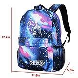 Cool Boys School Backpack Luminous School Bag Music Boy Backpack for Kids (Purple Galaxy Music Boy)