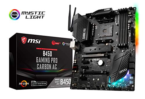 MSI B450 Gaming Pro Carbon AC - Placa Base Gaming (AM4, AMD B450, 3 x PCI-E x1, DDR4 3466+, HDMI, 6 x SATA 6Gb/s)