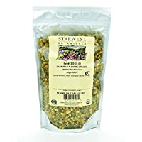 Starwest Botanicals Organic Chamomile Flower Whole (Egypt), 4 Ounces