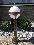Kugel Gold Garten 80 cm Stehlampe Aussenleuchte Paris Leuchte Gartenleuchte Stehleuchte
