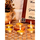 Festive Yellow Non Aromatic Tea Light Candles - Set Of 30 From RESONANCE