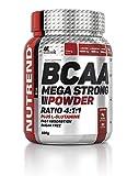 Nutrend BCAA MEGA STRONG POWDER PLUS L-glutammina 500g Cherry acidi sapore amminoacidi L-leucina, L-isoleucina e L-valina 4: 1: 1 ratio
