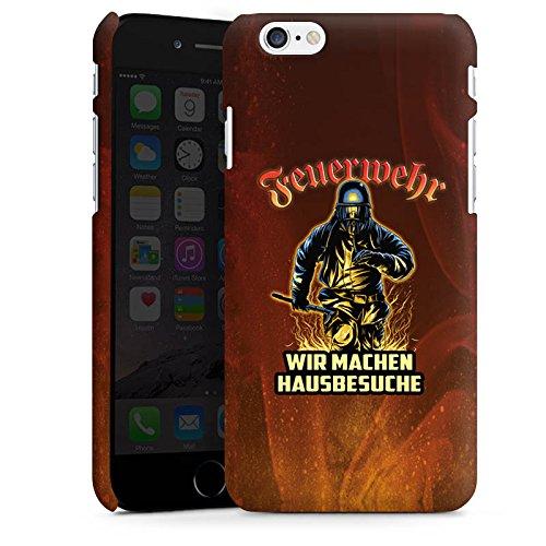 Apple iPhone SE Stand Up Hülle Case Cover mit Standfunktion Feuerwehrmann Spruch Feuerwehr Premium Case matt