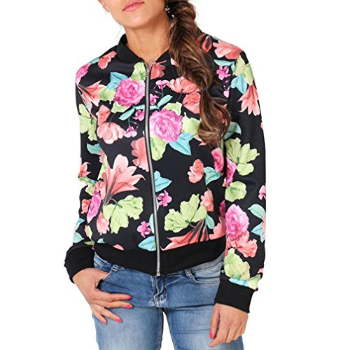 Manteau, Tonsee Mode Femme Floral Manches Longues Blazer Suit Casual Jacket Outwear Multicolore