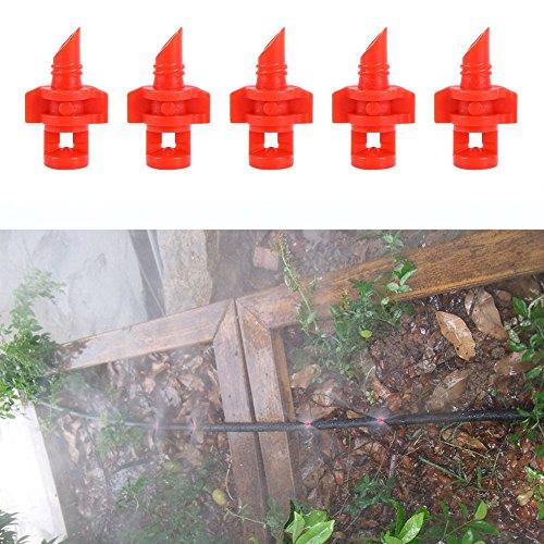 Tookie Zerstäuberfunktion Düse, 50DIY 360Grad Micro Garten Rasen Wasser Spray Zerstäuberfunktion Düse Sprinkler Bewässerung System Kit -