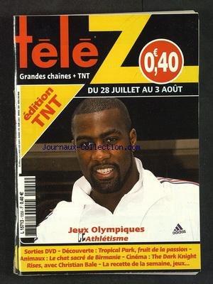 TELE Z [No 1559] du 23/07/2012 - JEUX OLYMPIQUES - ATHLETISME - DECOUVERTE - TROPICAL PARK - LE CHAT SACRE DE BIRMANIE - CINEMA - THE DARK KNIGHT RISES AVEC BALE