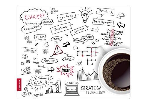 Speedlink Silk Mauspad Skizzenblatt Kaffee (weiche Oberfläche, geringer Gleitwiderstand, gummierte Unterseite, verschiedene Motive)