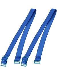 Azul Tela de elástica gancho de Metal tirantes de sujetador par de acoplamiento para mujer