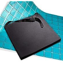 AIESI Cojín Antiescaras Profesional (Certificado) Memory en poliuretano expandido con cojín interior de gel