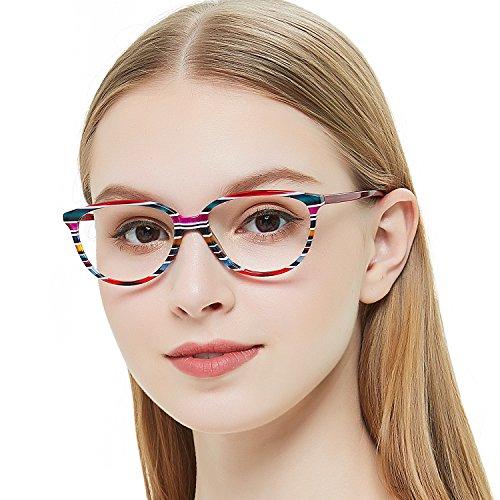 OCCI CHIARI Optische Brillen Rahmen Sonnenspiegel Rechteck Metall Dekoration Brillen Rahmen mit Federscharnier für Damen...