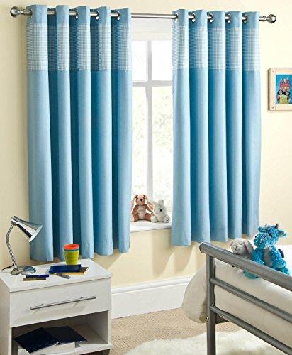 Enhanced Living Curtain Panel (Set of 2) Size: 117cm W x 183cm L, Colour: Blue