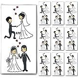 100 Taschentücher (10x10) Married Couple - Verliebtes Hochzeitspaar / Hochzeit / Freudentränen