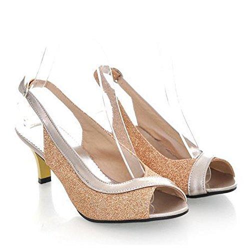 Heels Nonbrand Damenschuhe Gold Pumps Elegante sandalen Slingbacks High qBZBXx1