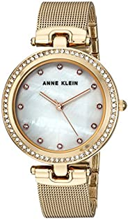 Anne Klein Womens Quartz Watch, Analog Display and Stainless Steel Strap AK/2972MPGB