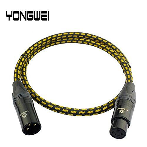 Audiokabel und Adapter, Yong Wei Cannon Männlich Und Weibliche Mixer Audio Kabel XLR Drei-Core Symmetrische XLR Line Mikrofon Kabel Verstärker Mikrofon Line ( Großauswahl : 0.5M ) (Line Kabel Symmetrisches)