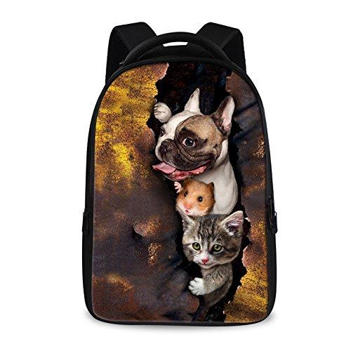 Escursionismo Zaini, borse, borse da trekking, borse all'aperto, impermeabile Grande capacità zaino 3D studente animale bag borsa per computer outdoor zaino viaggio anti-furto,D F