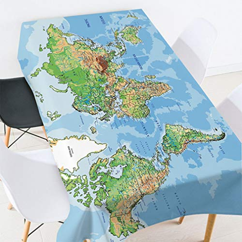 Cocorn World - Mantel Tela Impermeable diseño mapamundi