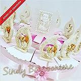 Bonboniere Kommunion Kuchen Zuckermandeln Flamme Mädchen in Stein Pignatelli Versand inklusive Torta da 12 fette
