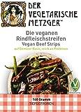 Vegane Rindfleischstreifen - (6 x 160g) Soja Fleischersatz mit 20,4% Protein - Low Carb -