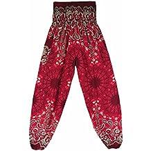 fd89f4e87154dd yogahose Damen 3/4 Mumuj Retro Herren Thai Harem Hosen Boho Festival Hippy