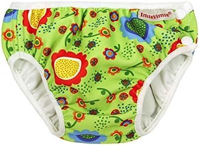 ImseVimse, bañador para, de baño para pañales, para pañales Aqua, para niños de diseño de flores de baño para pañales Grenn