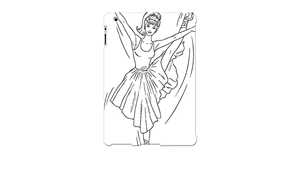 17b96563643 Tough Ipad 2/3/4 Case Cover/ Case For Ipad 2/3/4(barbie Barbie  Ballerina Coloring Page) / New Year's Day's Gift: Amazon.co.uk: Electronics