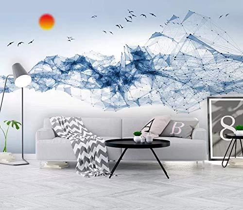 Tapete moderne einfache neue chinesische abstrakte geometrische Linie Wand-TV-Hintergrund-Wand, 200cm * 140cm -
