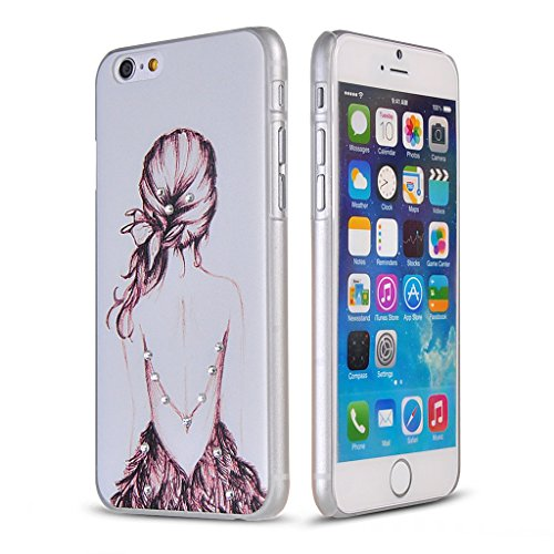 UKDANDANWEI Apple iPhone 6S Plus Hülle Case - Bling Strass Ultra Dünn Hart PC Hülle Glitzer Rückseite Slim Etui Schale für Apple iPhone 6S Plus -22 Bling-27