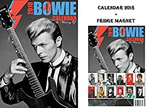 david bowie kalender 2018 david bowie k hlschrankmagnet. Black Bedroom Furniture Sets. Home Design Ideas