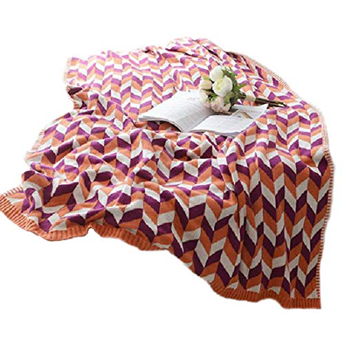XNSY Gestrickte Weizen-Ohr-Freizeit-Decke Klimaanlage Decke Baumwoll-Wolldecke Büro
