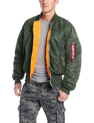 Alpha Industries Men's MA-1 Flight Bomber Jacket, Sage Green, 4X-Large -