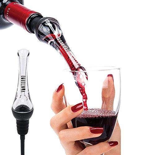 Hemore Weinbelüfter Ausgießer, belüftend Pourer Ausgießer für rote und weiße Weine-Dekantieren mit Eleganz und Einfachheit