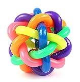 Fully Hunde Katze Quietschspielzeug Kauspiezeugl Zerrspielzeug Kauball Hundespielzeug Ball Zahnreinigung Zahnpflege (Durchmesser: 9cm)
