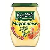 Bénédicta - Mayonnaise Naturglas 3X510G - Mayonnaise Nature Bocal 3X510G - Preis Pro Einheit - Schnelle Lieferung