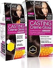 L'Oreal Paris Casting Creme Gloss Hair Colour Combo Hair Color (300, Darkest Br