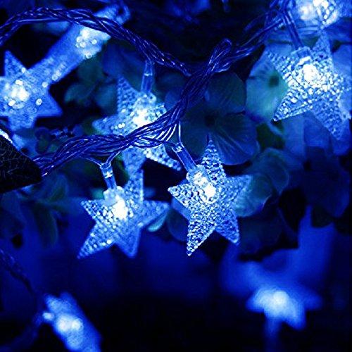 Kobwa Guirlande lumineuse, 5m/4,9m 50LED DIY Fée étoiles câble lumineux Latterns d'intérieur/extérieur à piles avec 2modèles pour arbre de Noël, de mariage, Halloween, fête d'anniversaire, chambre à coucher de bébé, jardin, terrasse